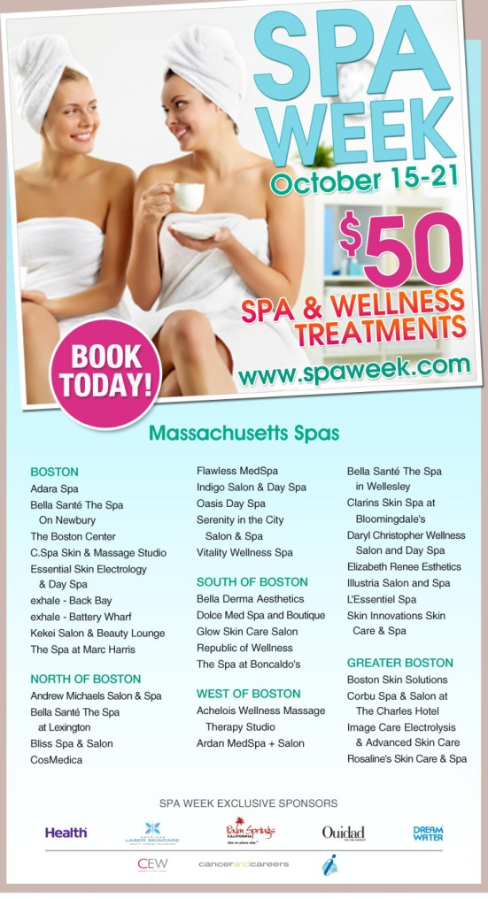 Massachusetts Spa Week – Have You Booked Your $50 Spa Treatments Yet ?