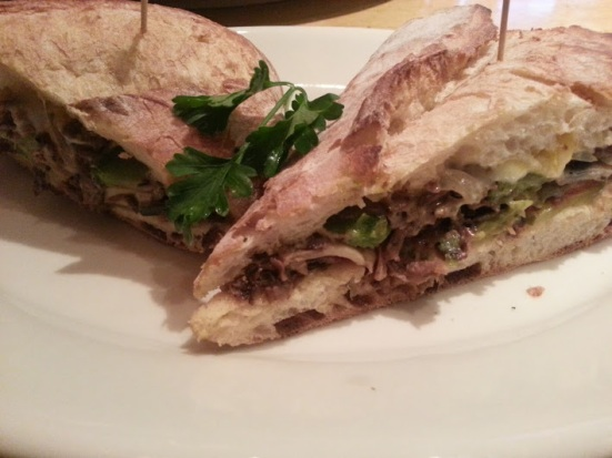 steak and cheese panini