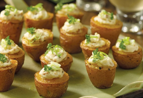 appetizers-tiny twice baked potatoes