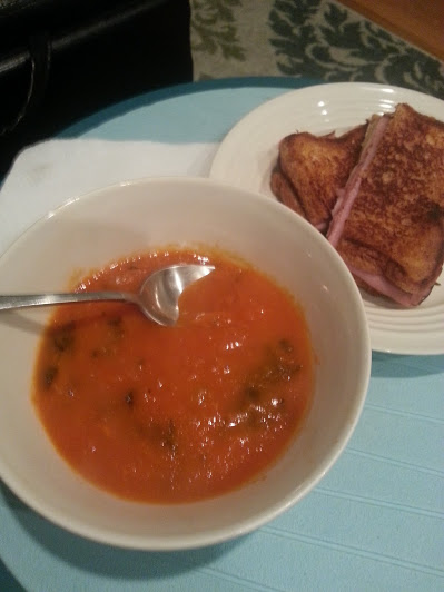 ham and cheese with tomato soup