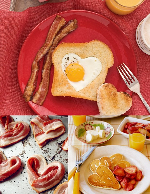 3 heart breakfast ideas