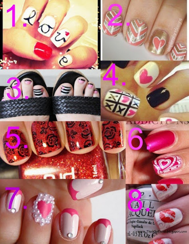 8 nail art ideas for valentine's day, Ideas