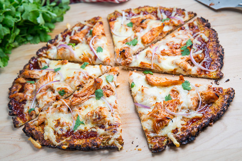 BBQ Chicken Pizza with Cauliflower Crust 500 4699