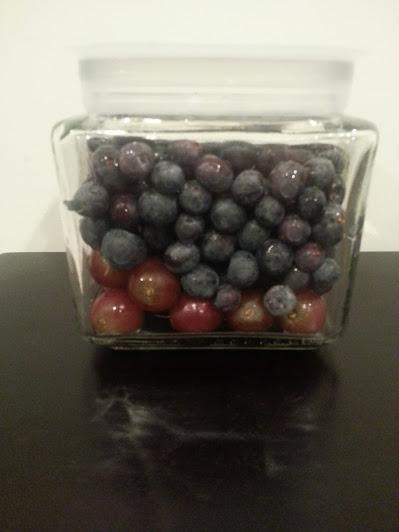 berries filling jar
