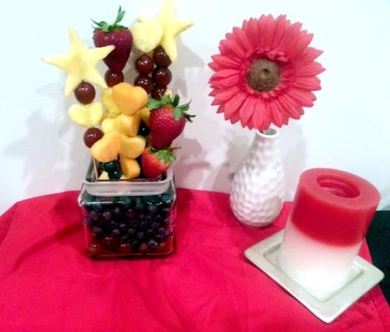 finished edible arrangement