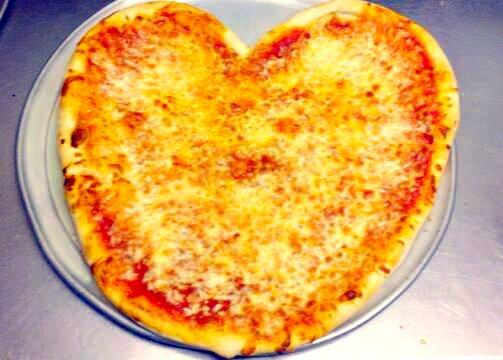 imperial heart shaped pizza