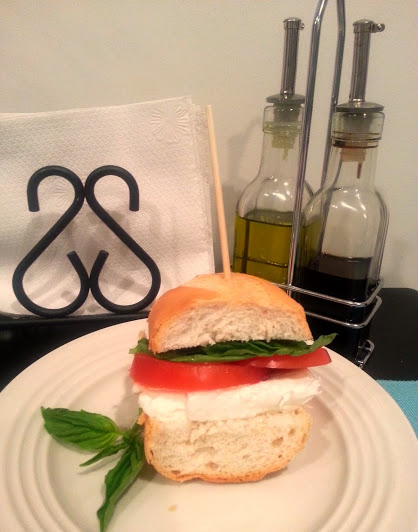tomato basil mozz sandwich
