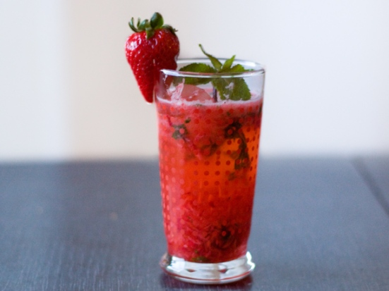 strawberry sake cocktail