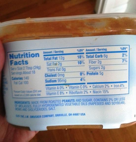 nutritiion info