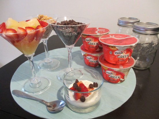 Make Your Own Parfait Bar With Yoplait Greek Yogurt