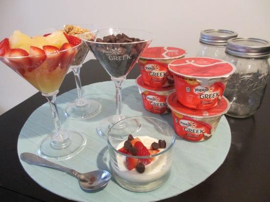 Yoplait Greek Yogurt parfait bar