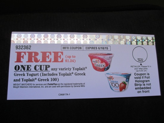Yoplait Greek coupon