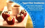 Yogurt filled stawberries recipe & Yoplait Greek Yogurt giveaway