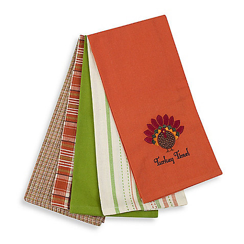 thanksgiving kitchen towel set